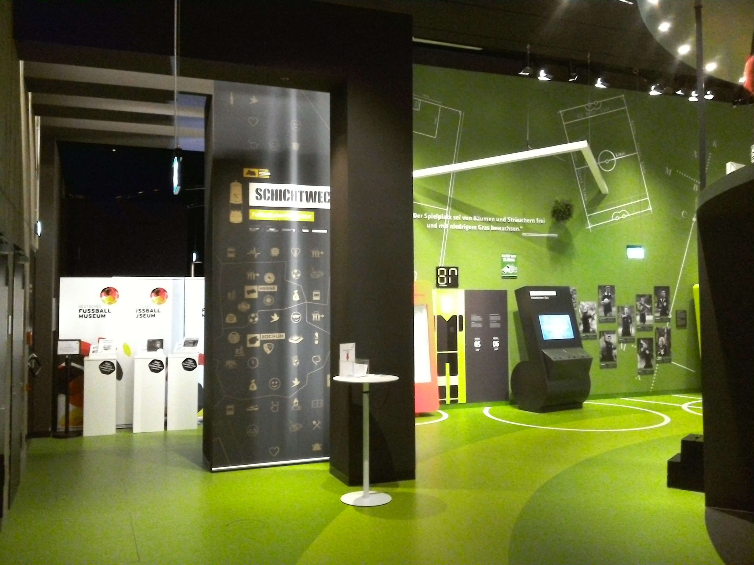 Fußballmuseum Wandgestaltung